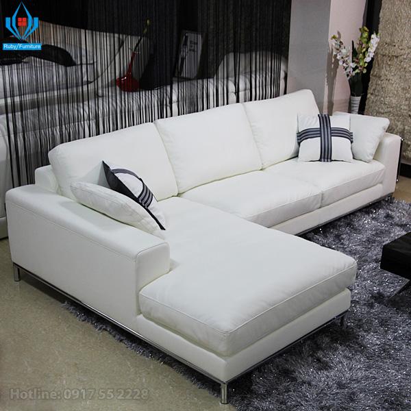 Sofa da thật 100% và sofa giả da